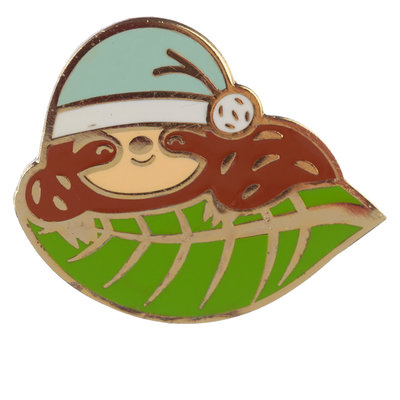 Luiaard Emaille Button / Pin