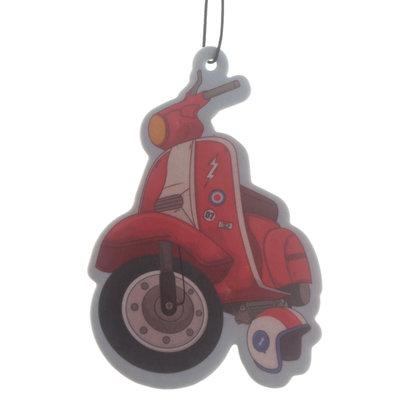 Retro Scooter Luchtverfrisser Air Freshener Autoparfum Aardbei Brommer